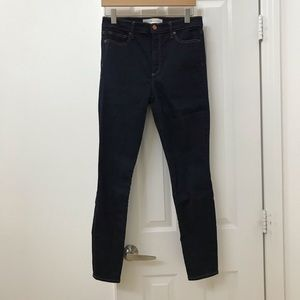 Gap true skinny high rise dark denim jeans